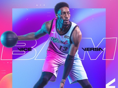 Miami Heat: ViceVersa Edition modern glitch headshots sports heat bball motiongraphics motion design motion bam basketball nba gradient