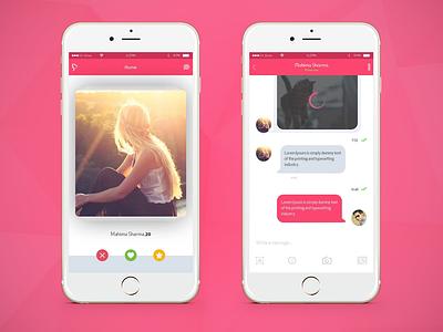 Dating Mobile App - Get Mingle dating app ux ui logo design app ui  ux design ui  ux