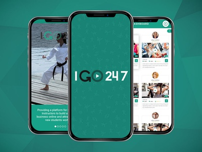 Health & Fitness App - IGO247 fitness app app martial app mobile app design ui  ux design ui  ux design