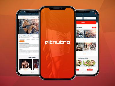 Fit Nutro App - Complete Fitness Solutions ux ui mobile app design ui  ux design ui  ux design health app diet app workout app fitness app