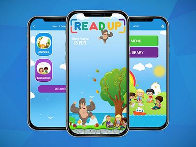 Read Up App - Children Books Online ui ux children books book app mobile app design ui  ux design ui  ux design