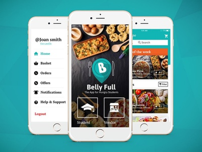 Belly Full App for Hungry Students ui app ux mobile app design ui  ux design ui  ux design