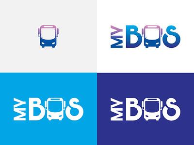 MYBUS - App Logo Designing ui  ux design app logo design concept logo design branding ux ui bus booking bus app logo design logo