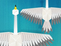 Photoshop Paper Cranes