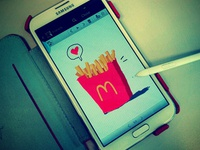 Samsung Note2 and french fries love