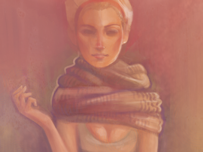 Pink pink girl painting photoshop