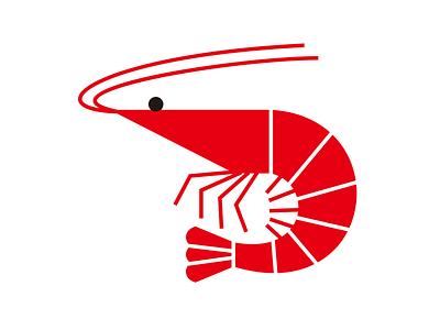 Prawn ebi shrimp prawn vector logo simple photoshop illustration