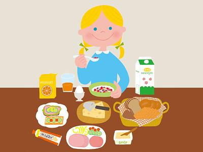 Frukost girl food breakfast swedish sweden photoshop