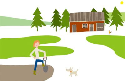 New life illustration photoshop
