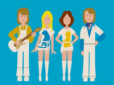 ABBA swedish famous character simple photoshop design illustration