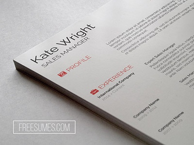 minimalist resume template by freesumes com dribbble