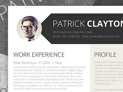 Free Professional Resume header resume smart resume professional cv template