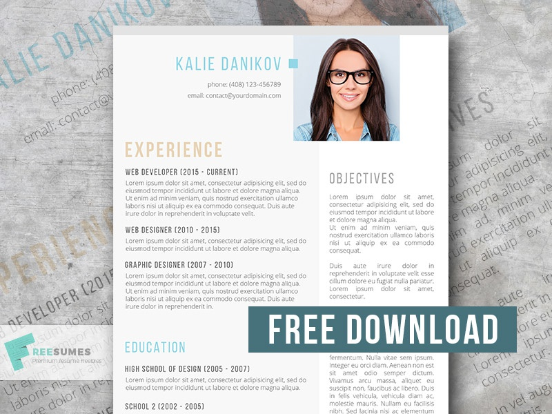 The Modern Clean Resume Template By Freesumes Com On Dribbble