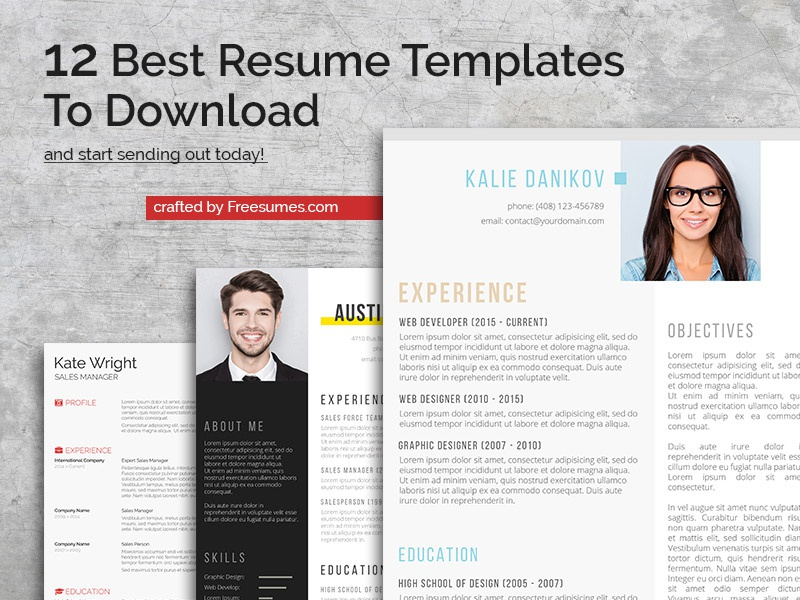 best resume templates by freesumes com on dribbble