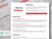 The Efficient Red Resume