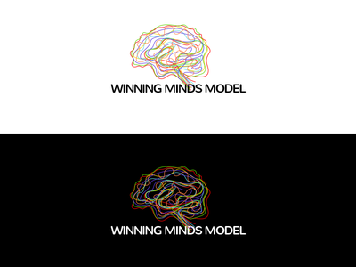 Winning minds logo mind minds brain logo winning win colors