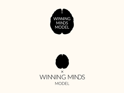 Winning mind model Vol2 brain mind brains logos logotype winning