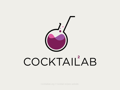 Cocktail Lab Logo laboratory cocktail lab logo logotype cocktails labs drinks recipes