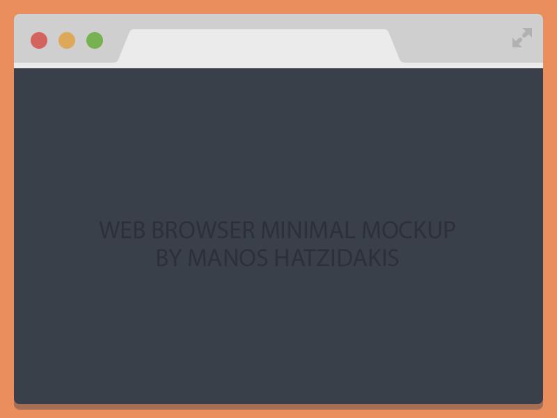 Flat Chrome Browser Free Psd chrome browser psd free flat