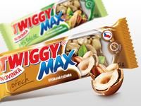 Twiggy muesli bars - packaging design