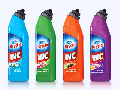 Krystal household detergents - packaging design design label illustration packaging cleaner household detergents