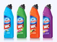 Krystal household detergents - packaging design
