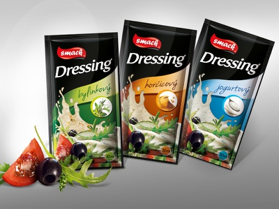 Smack Food Service - dressing transparent foil salat yoghurt dressing