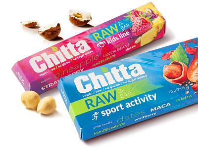 Chitta raw bar packaging design nuts fruit retouching design packaging raw bar box