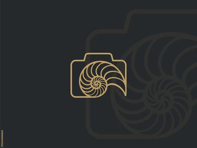 Nautilus Photography minimalist lineart design logomark logodesign logo photography camera shell nautilus
