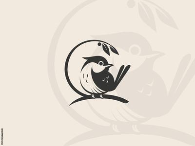 Fat Bird Logo design logomark logodesign logo nature branch animal bird