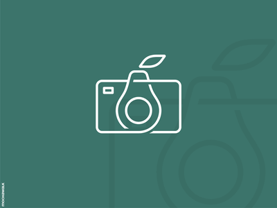 Avocado Photography monoline lineart design logomark logodesign logo fruit avocado photography camera