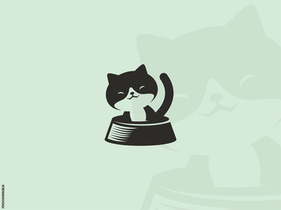 Happy Cat characterdesign icon adorable playful animal design logomark logodesign logo pet kitty kitten cat