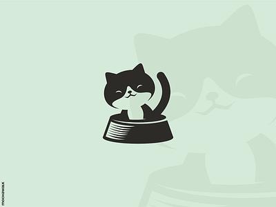 Happy Cat characterdesign icon adorable playful animal design logomark logodesign logo pet kitty kitten cat