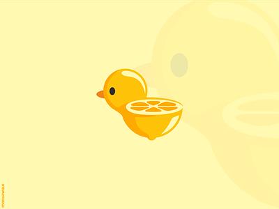 Lime Duck adorable mascot playful illustration logodesign logo lemon lime fruit animal little duck duck