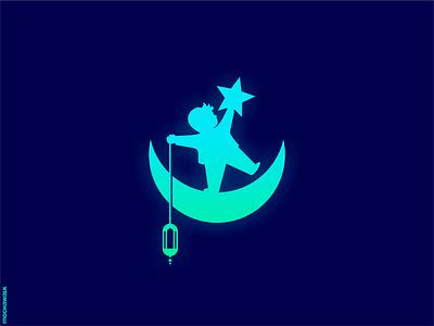 Ramadan Mubarak design islamic islam kids star crescent moon playful logomark logodesign logo ramadan kareem ramadan mubarak