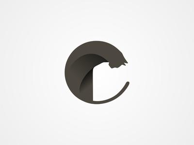 Cat design blackcat cat logomark logo