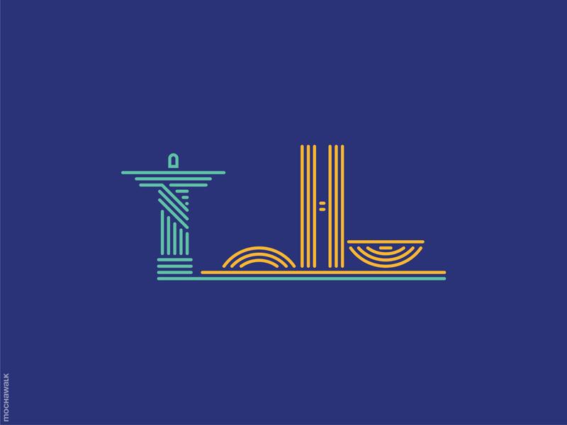 Line Art - Brazil