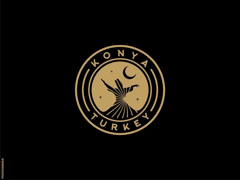 Konya - Turkey rumi spirituality sufi turkey konya emblem icon logomark logodesign logo