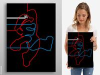 Line Art - Super Mario