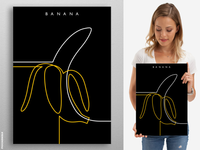 Line Art - Banana