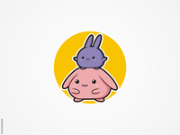 Cute Rabbits Logo