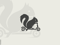 Scooter Squirrel Logo