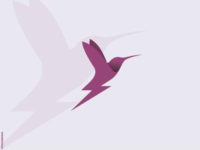 Thunderbird Logo wings design identity logomark logodesign logo speedy speed power thunder animal hummingbird bird