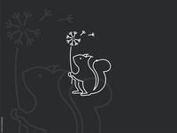 Line Squirrel Logo