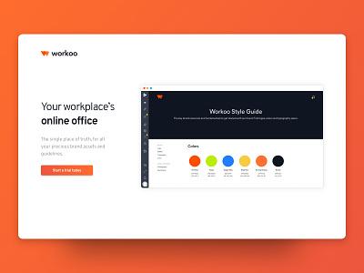 Workoo - Work Online Office animated gif animation logo design branding webdesign