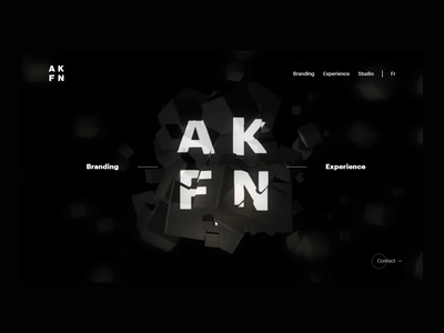 Akufen Anamorphic Homepage webdesign homepage interactive art direction anamorphosis