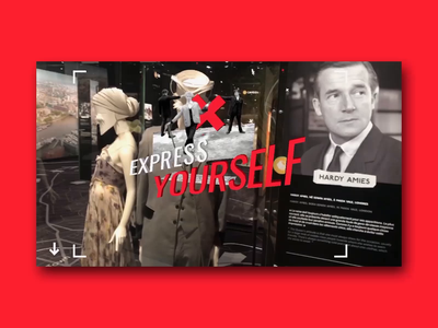 Express Your self uidesign type london 3d animation motion design museum augmentedreality
