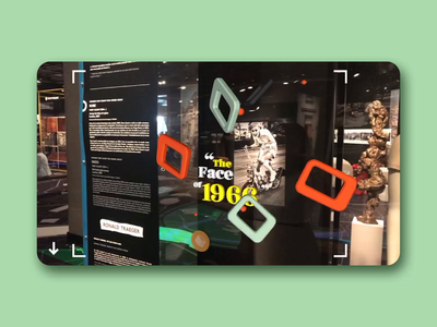 Swiging london twiggi 70s photo graphicdesign design motion museum augmented reality