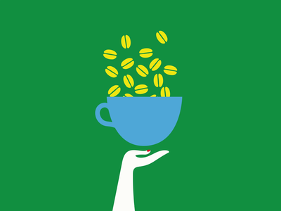 Coffee & grain coffee cup illustration motion design loading gif