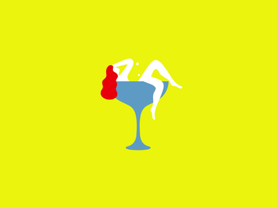 Woman & Cocktail coktail woman loader illustration design motion design loading gif